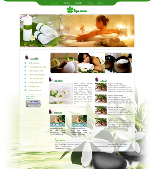 Template web spa